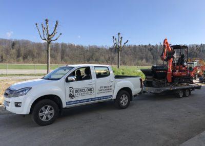 Transport avec pick-up suisse romande
