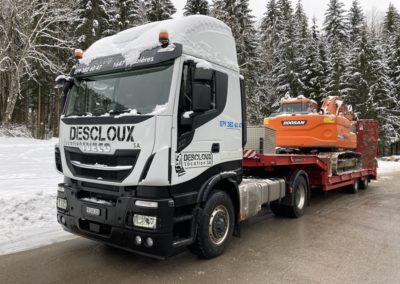 Transports chantier suisse
